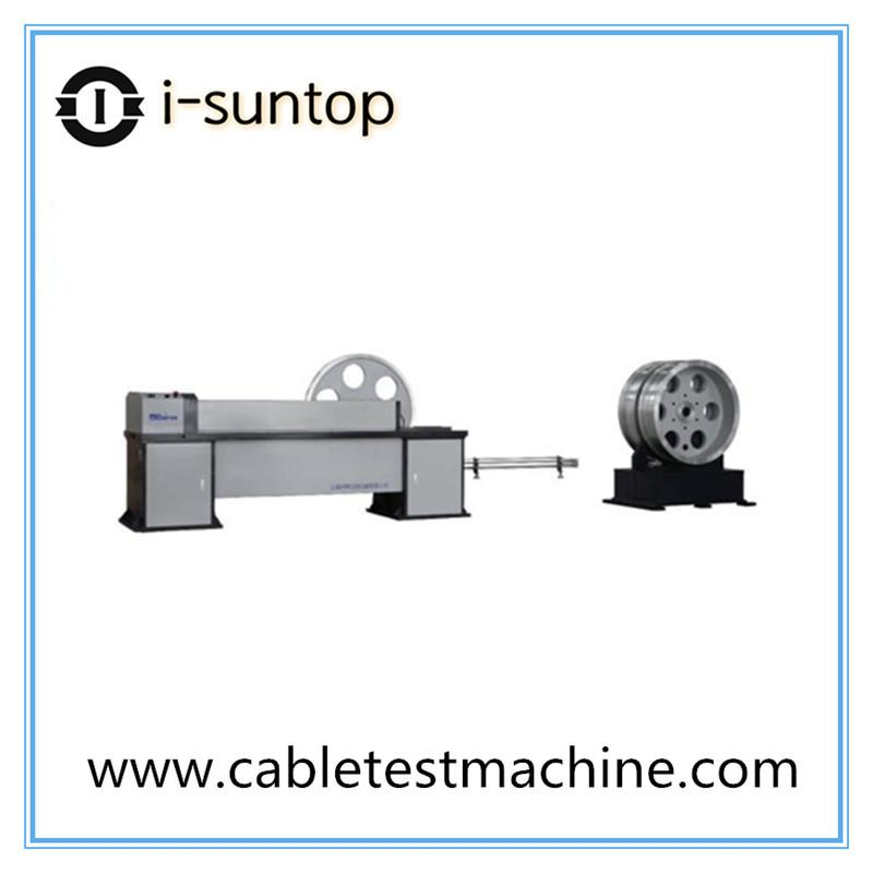 Computer controlled optical cable tension testing machine